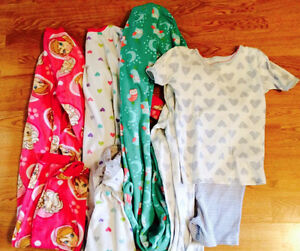 Four sets of PJs from Carter's - girls size 6.