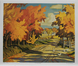 """A.J. Casson Limited Edition """"Country Road"""""""