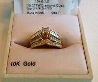 alliances en or 10 k avec diamants
