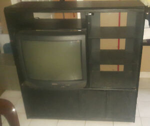 black wall unit