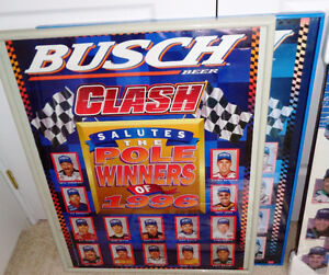 Nascar Busch Grand National Clash Earnhardt Gordon Martin Poster