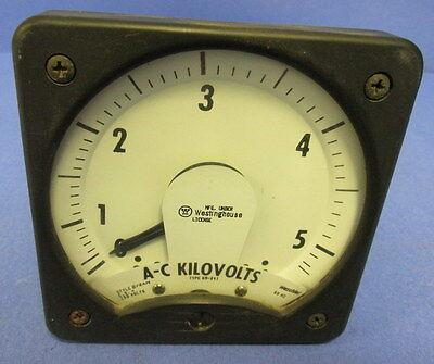 Westinghouse 0-5 A-c Kilovolts Meter Kr-241
