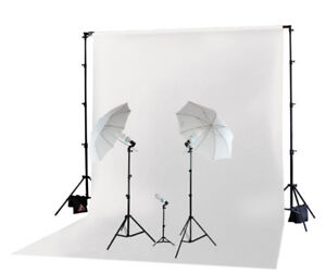Photography/Video Continuous Starter Lighting Kit + Background