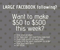 Want to make some money today by posting on facebook