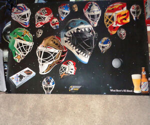 """NHL Molson Poster """"The Mask"""" What Beer's All About Greg Harrison"""