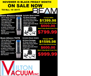Black Friday Sale on Now Save Huge on Beam Central Vac's