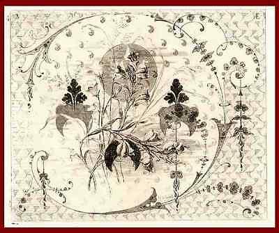 JUGENDSTILBOUQUET aus LIPPENBLÜTLERN - Henri POTERLET - OriginalRadierung 1885