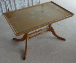 Duncan Phyfe Coffee Table with glass top
