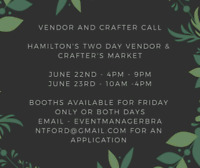 Hamilton Market Looking For Crafters!