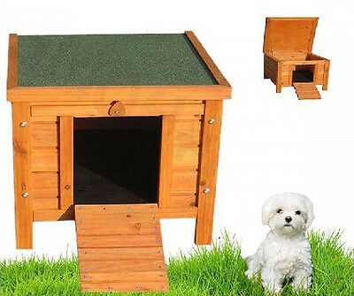 Small Dog House Wooden Pet Kennel Indoor Outdoor Home Garden Pig Shelter Cat Den