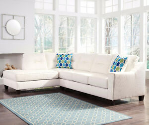 Ashley Kirwin White Sectional
