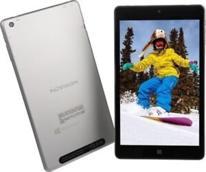 "New Open Box NuVision Solo 8 32Gb 8"" Tablet Android Silver"