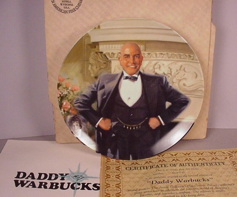 Little Orphan Annie Collector Plate ; Daddy Warbucks movie musical 1982 MIB  #2