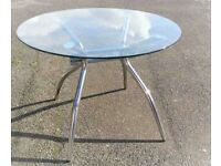 Quality Glass Top Round Table from Effezeta Italy