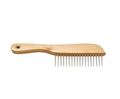 """Poodle Comb for Dogs - classic style - Size: 8¾"""" Teeth: 1¼"""" - wooden handle"""