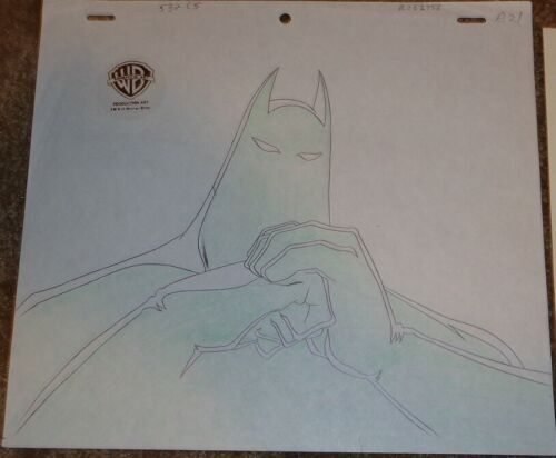 Batman Animated Series Production Drawing The Batman Dark Knight!