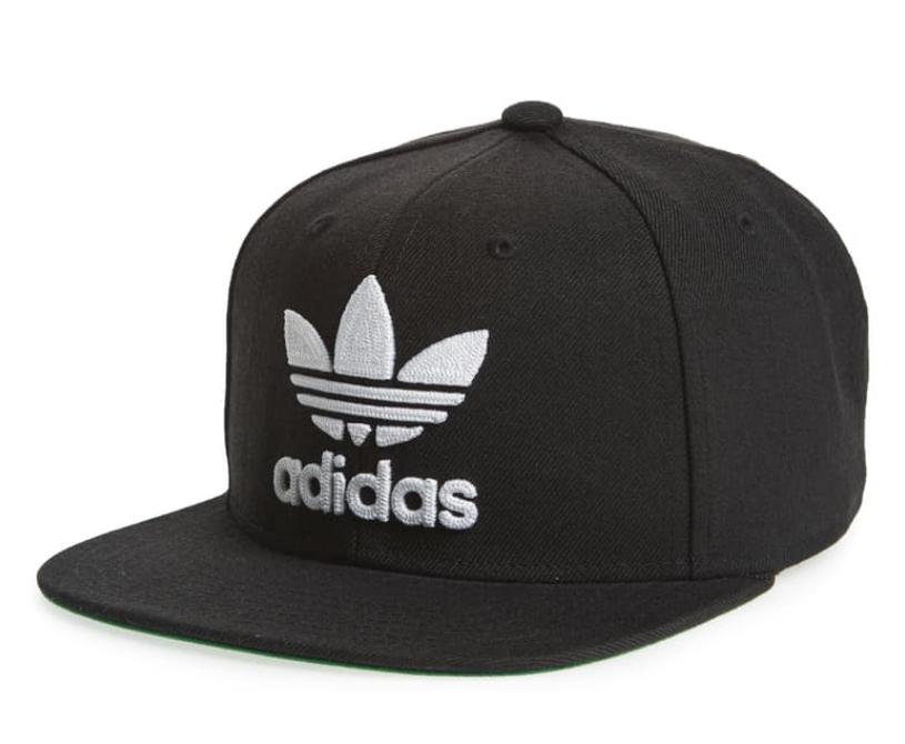 Men's Adidas Trefoil Chain Snapback Baseball Cap - Black