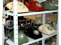 Vintage 1970's 706 / 746 GPO Dial Telephone In Black, Green Or Ivory