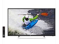 "JVC 49"" Inch LED LCD TV 1080p, Freeview HD USB Record Pause & Play in excellent condition"