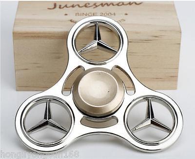 Mercedes-Ben Round Spinner Fidget Hand Finger Focus Toy EDC Pocket Desktoy ADHD