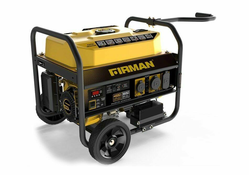 Firman Power Equipment P03603 Gas-Powered 3650/4550-Watt Portable Remote  Start