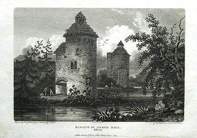 ESSEX HERON HALL REMAINS  HERONSGATE Original Copper Engraved Antique Print 1805