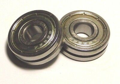 2pcs 8mm V628zz 8248 V Groove Sealed Ball Bearings 0.315 Inch Vgroove Bearing