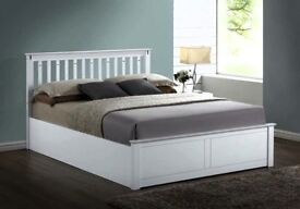🔥💗🔥SUPERB GERMAN WOOD🔥💗🔥💗BRAND NEW WHITE DOUBLE & KING WOODEN OTTOMAN STORAGE GAS LIFT UP BED