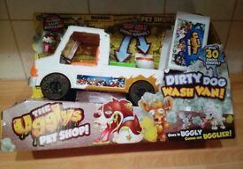 Brand new the ugllys pet shop dirty dog wash van