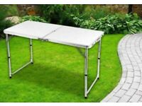 Collect Today - 4FT HEAVY DUTY FOLDING TABLE PORTABLE PLASTIC CAMPING GARDEN PARTY CATERING
