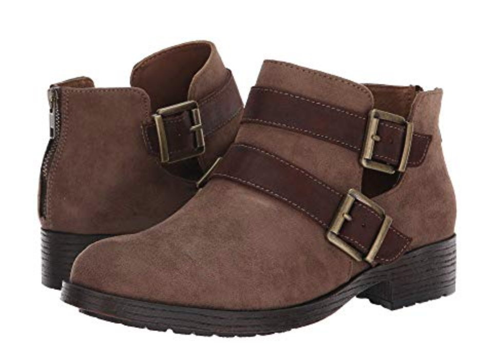 NEW BORN CONCEPTS B.O.C SOPHIE TAUPE BOOTIES ANKLE BOOTS WOM