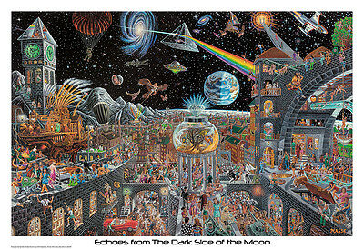 ECHOES FROM THE DARK SIDE OF THE MOON - MASSE ART POSTER 22x34 - PINK FLOYD 715