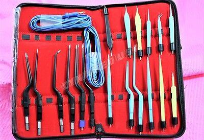 Premium Grade Bipolar Bayonet Forceps Electrosurgical Instruments Set -a Qualty