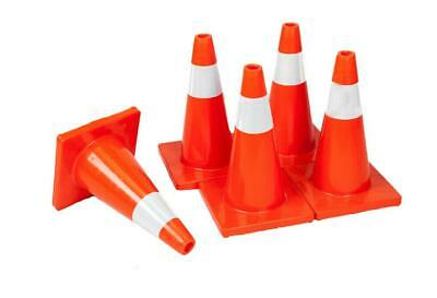 18 Orange Safety Traffic Cones 5 Cones Per Pkg Wide Body Free Us Ship