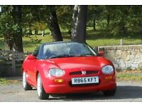 MG, MGF, Convertible, 1997, Manual, 1796 (cc), 2 doors. MOT. Sep. 2021