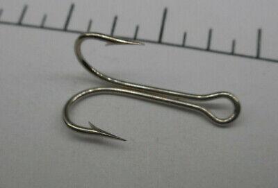 MUSTAD  Double Hooks Size 4 Open Shank Nickel Finish,7826 20 HOOKS