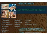 H&H Handyman services