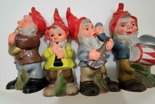 Set of 4 Vintage Heissner Gnome Hard Rubber/Plastic Figures_West Germany