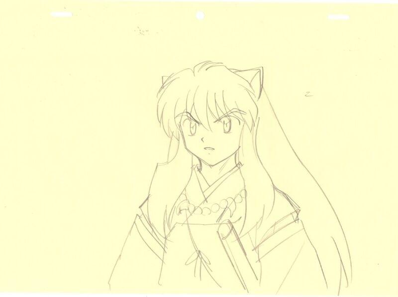 Anime Genga not Cel Inuyasha #137
