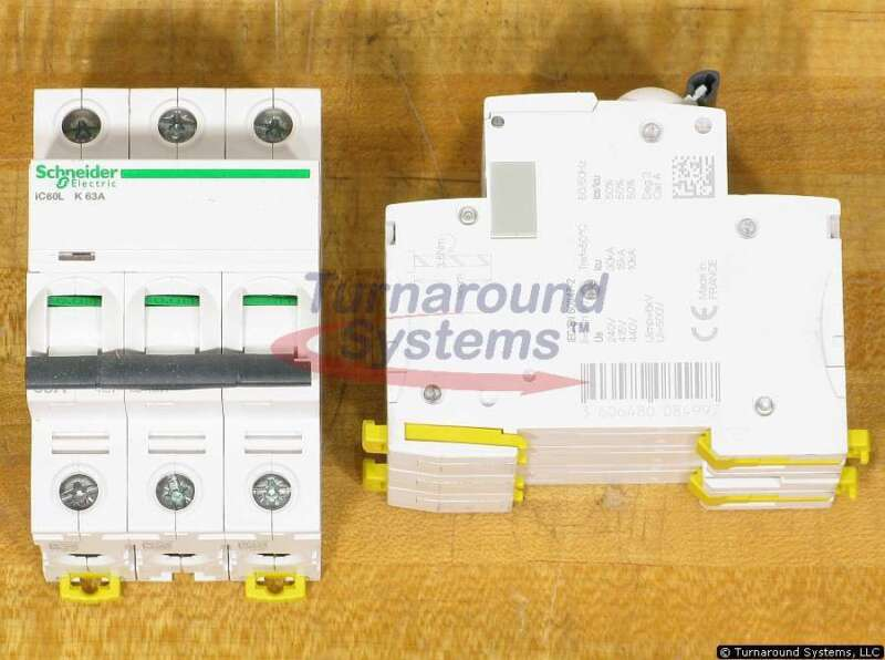 Schneider Electric A9F95363 Breakers, 63 Amp 3 Pole 440 VAC, NEW!
