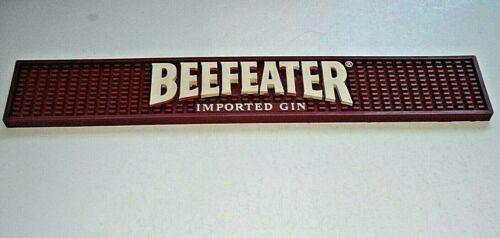 "2006 Beefeater Imported Gin Bar Mat Rubber Rail Spill Guard 21"" x 3 1/2"""