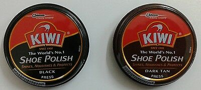 Kiwi Shoe Polish  Black / Dark Tan  15 Gm  Shoe Shine  Kiwi Shoe Polish