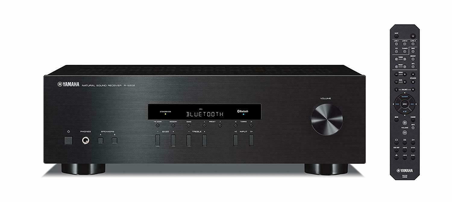 Yamaha R-S202BL Stereo Receiver 2Channel with Bluetooth FM A