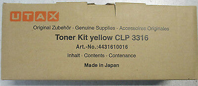 Utax 4431610016 Toner Kit gelb für CLP 3316, Original - Original Gelb Toner Kit