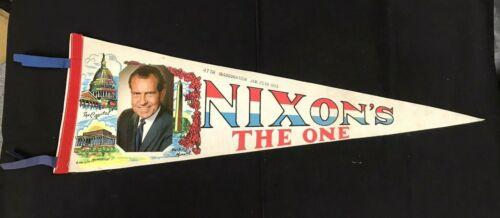 Richard Nixon the One Inauguration 1973 Political Pennant JH800