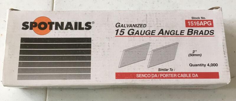 "SPOTNAILS #1516APG 2"" 15 Gauge Angle Finish Brads (4,000 Box)"