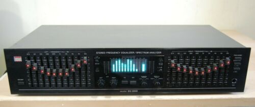BSR EQ-3000 10-band Stereo Frequency Graphic Equalizer and Spectrum Analyzer