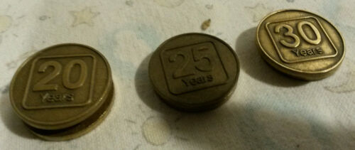 State Farm Insurance employee medallion coins 20 25 30 anniversary vintage lot 3