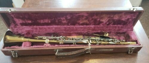 Vintage Collegiate Metal Clarinet with Case - Made by Holton, Elkhorn Wisconsin