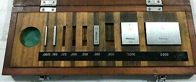Mitutoyo Gauge Block Set Be1-9-3 Grade 3 Code 516-935 Partial Set In Case K45